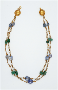Image of Necklace with Pearls, Sapphires, and Emerald Plasma