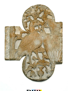 Image of Fragment of a Chancel Panel (?) with Peacock