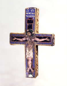 Image of Reliquary Cross with the Crucifixion