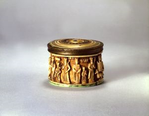 Image of Pyxis with Imperial Families and Ceremonial Scenes