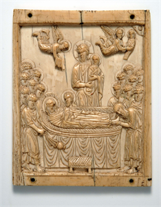 Image of Plaque with the Koimesis (Dormition of the Virgin)