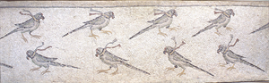 Image of Floor Mosaic with Beribboned Parrots