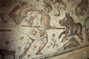 Image of Floor Mosaic with Hunting Scenes