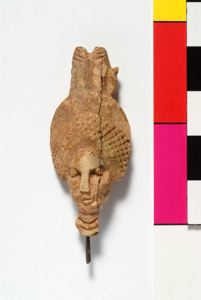 Image of Hairpin Finial with a Woman's Head wearing an Isis Crown