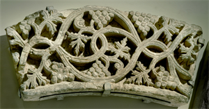Image of Segment of a Vine Scroll Arch