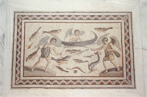 Image of Floor Mosaic with Erotes Fishing