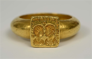 Image of Marriage Ring Inscribed with Couple's Names