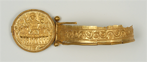 Image of Fragmentary Bracelet with Medallion of Emperor in a Chariot
