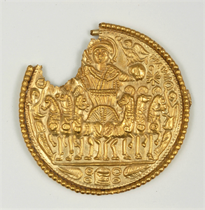 Image of Fragmentary Medallion of Emperor in a Chariot