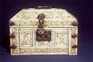 Image of Rosette Casket with Warriors, Dionysiac Figures, and Animals