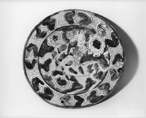 Image of Bowl with Lion on Interior