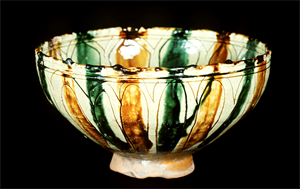 Image of Bowl with Vertical Stripes