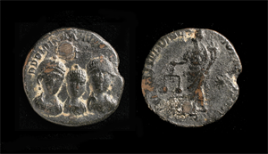 Image of Coin Weight with Three Imperial Busts