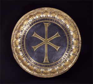 Image of Paten with Christogram and Repousse Border