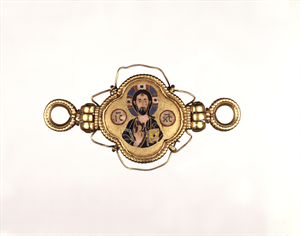 Image of Hinged Closure with Christ and the Virgin