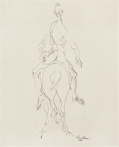 Image of Nude Rider on Horse