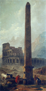 Image of Coliseum and the Lateran Obelisque