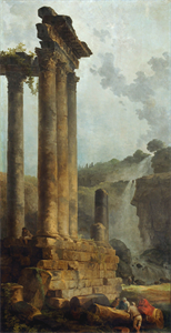Image of Temple of Vespasian and Titus and the Cascade at Tivoli