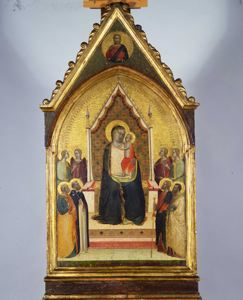 Image of Madonna and Child with Saints and Angels