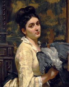 Image of Lady with a Bird