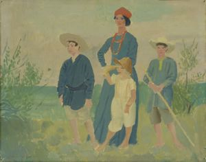 Image of Woman with Three Children
