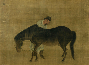 Image of Man and Horse