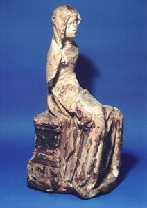 Image of Virgin from a Pietà