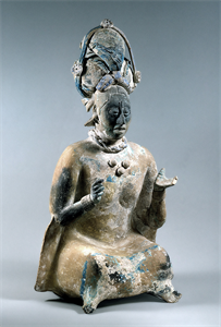 Image of Seated Female Figurine