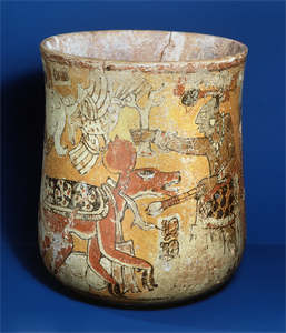 Image of Polychrome Vase with Mythical Scene