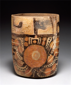 Image of Polychrome Vase with Geometric Designs