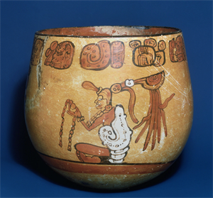 Image of Polychrome Bowl with God N