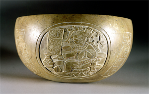 Image of Bowl with Anthropomorphic Cacao Trees