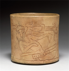 Image of Incised Bowl of Seated Maize Deity