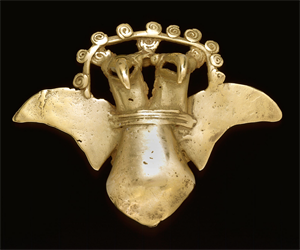 Image of Double-Headed Avian Bell Pendant