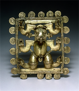 Image of Framed Masked-Figure Pendant