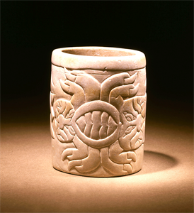 Image of Cup With Stylized Spiders