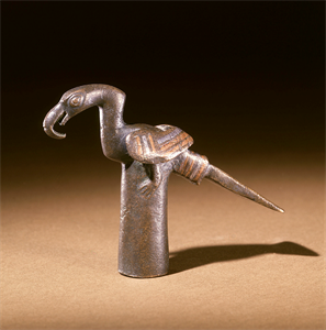 Image of Staff Finial in the Shape of a Bird