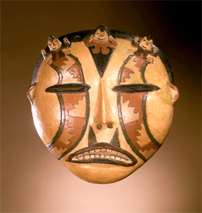 Image of Mask with Modeled, Incised and Painted Decoration