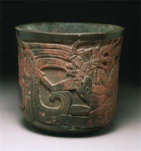 Image of Carved Vessel