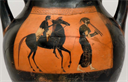 Additional Image Detail, horse rider and musician